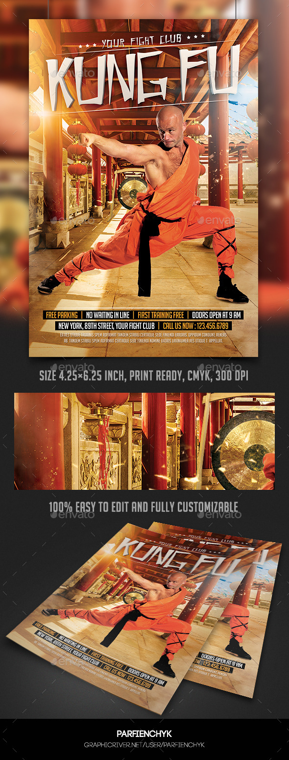 GraphicRiver Kung Fu Fight Flyer Template 10698882