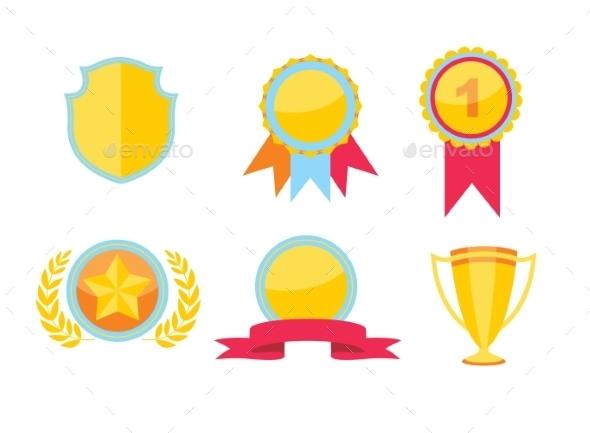 GraphicRiver Trophy Set 10699145