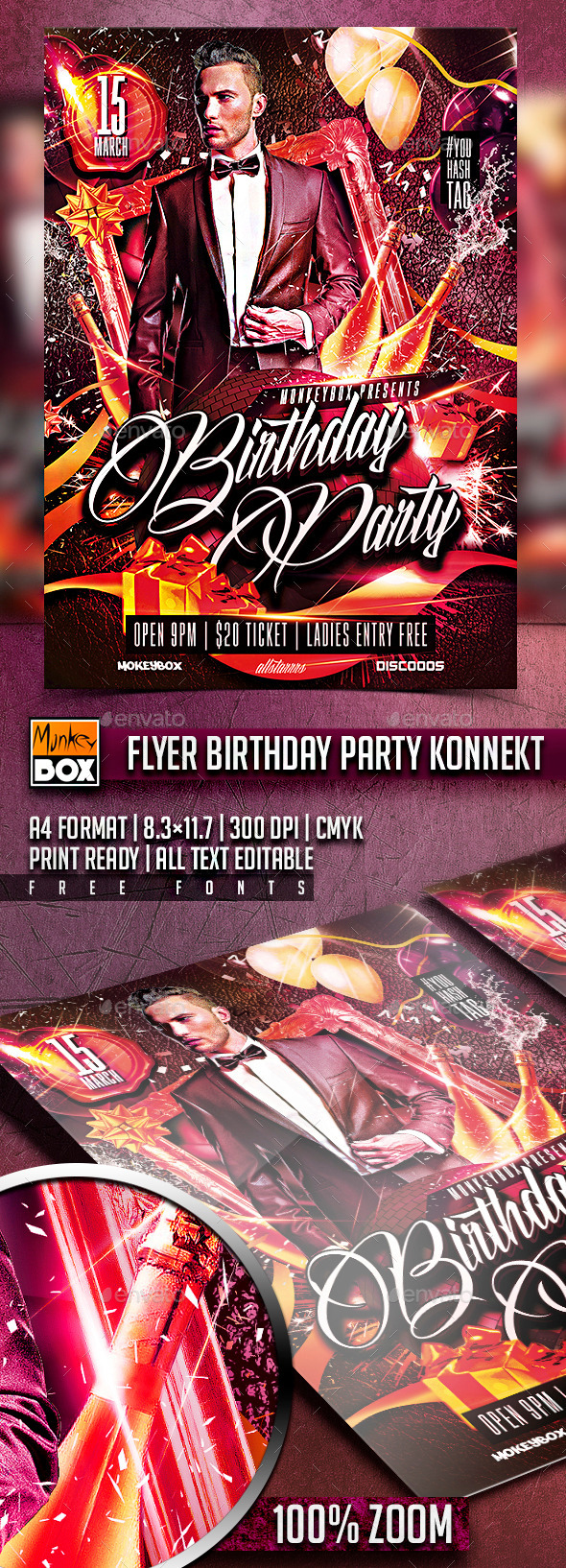 GraphicRiver Flyer Birthday Party Konnekt 10623883