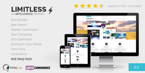 Limitless - Multipurpose Drag n Drop Theme - Corporate WordPress