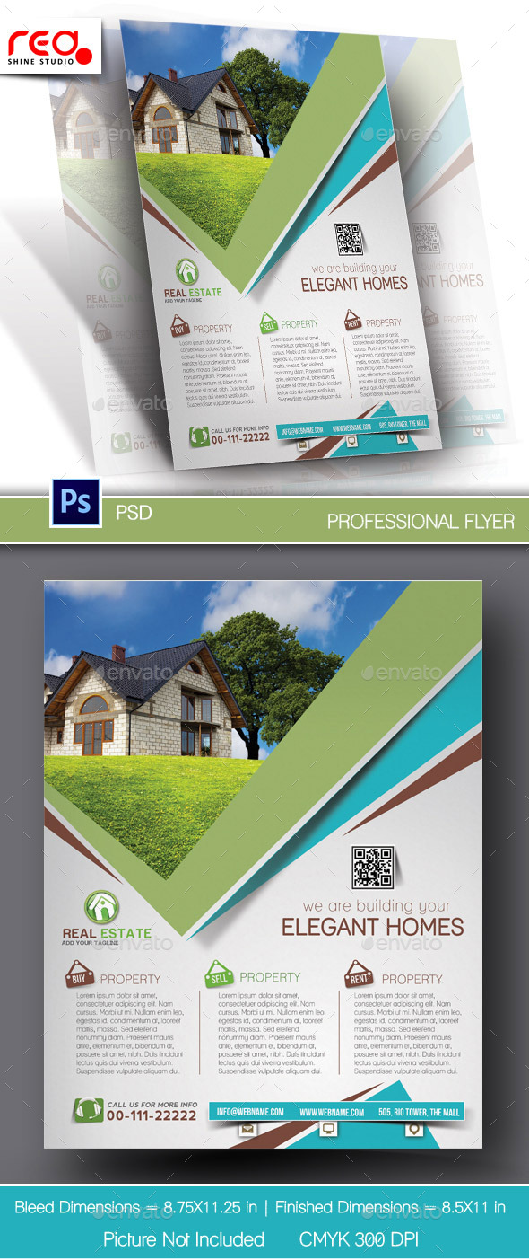 GraphicRiver Elegant Homes Flyer & Poster Template 10699495