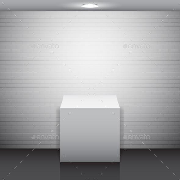 GraphicRiver Empty White Stand 10699701