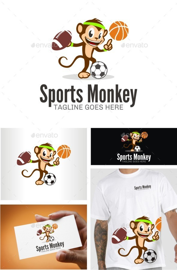 GraphicRiver Sports Monkey 10618654