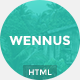Wennus - Responsive Coming Soon Template - ThemeForest Item for Sale