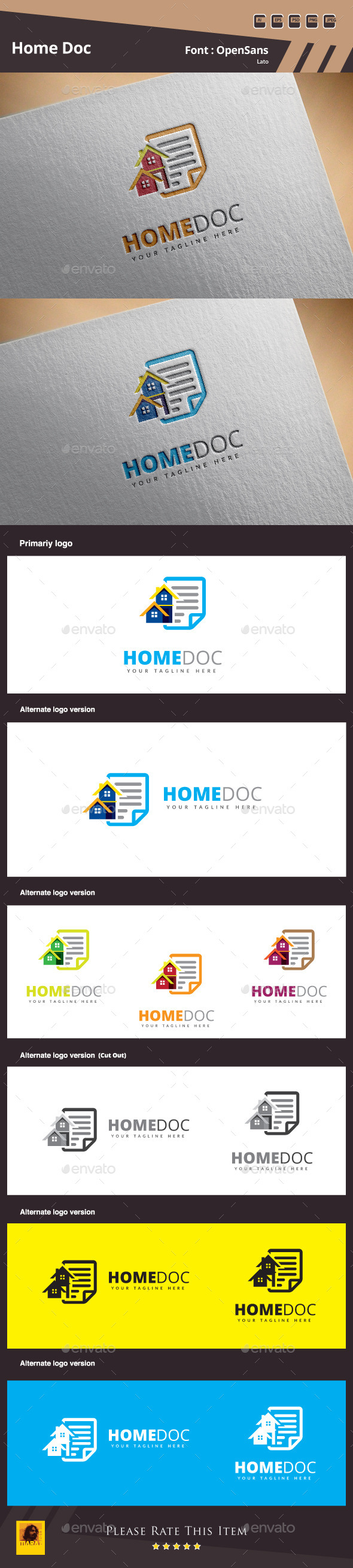 GraphicRiver Home Doc Logo Template 10700302