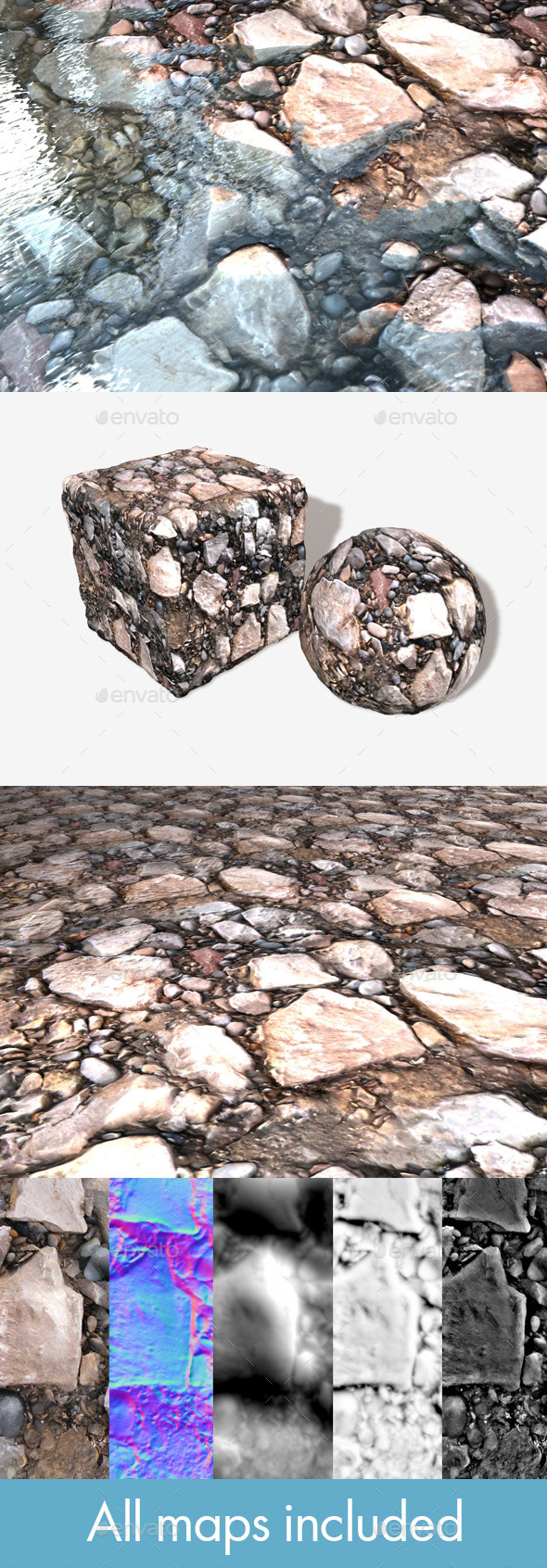 Ground Rocks Seamless Texture - 3DOcean Item for Sale
