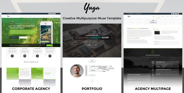 ThemeForest Yuga Creative Multi-Themes Muse Template 10700363