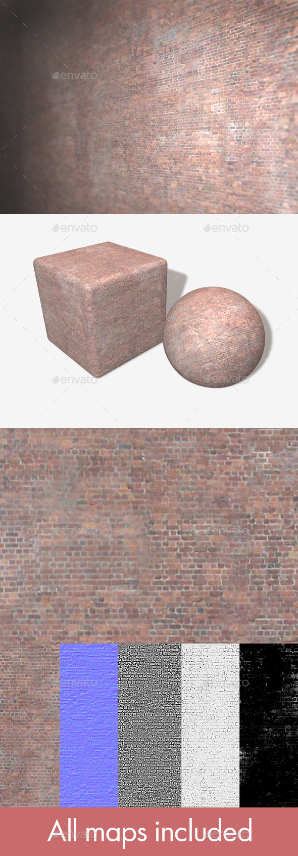 3DOcean Tiny Brick Building Seamless Texture 10700372