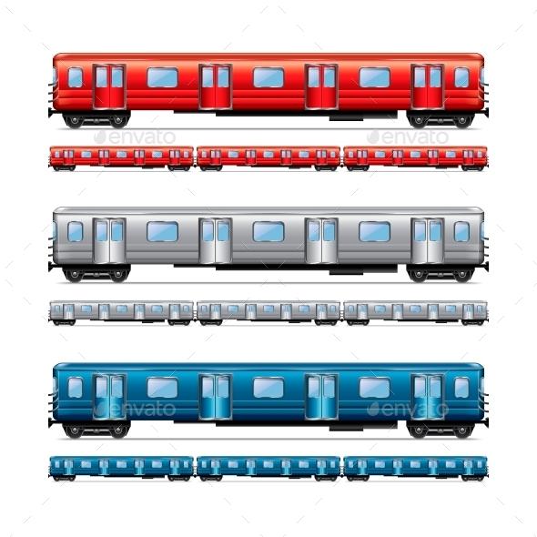 GraphicRiver Subway Train Set 10700390