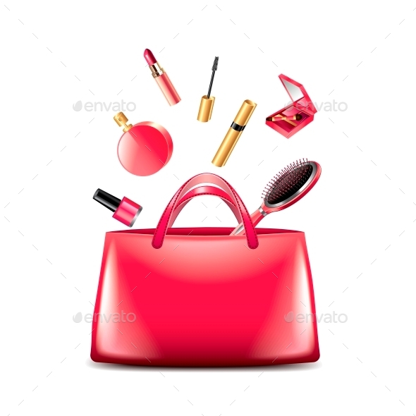 GraphicRiver Women Bag with Cosmetics 10700398