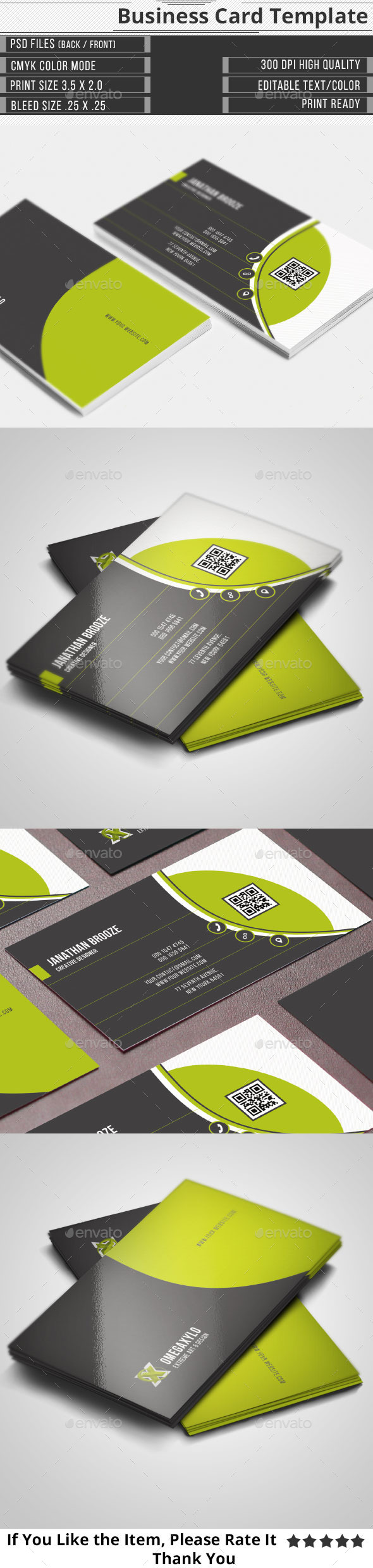 GraphicRiver Corporate Business Card 10700442