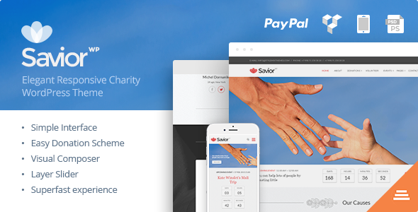 ThemeForest Savior Charity & Donations WordPress Theme 10530112