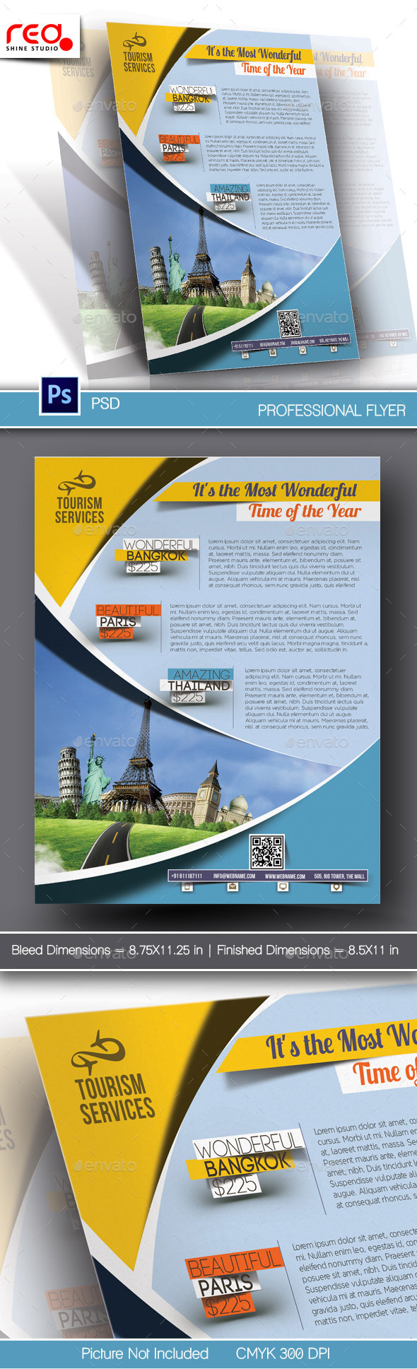 GraphicRiver Holiday Travel Flyer & Poster Template 10700853
