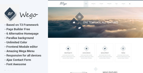 ThemeForest Wego Multipurpose Joomla Template 10701089