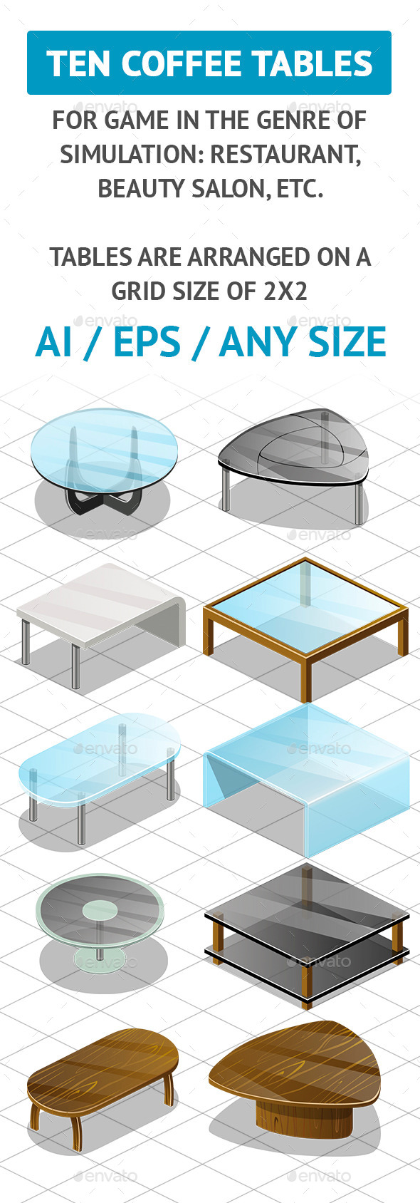 GraphicRiver Coffee Tables 10701100