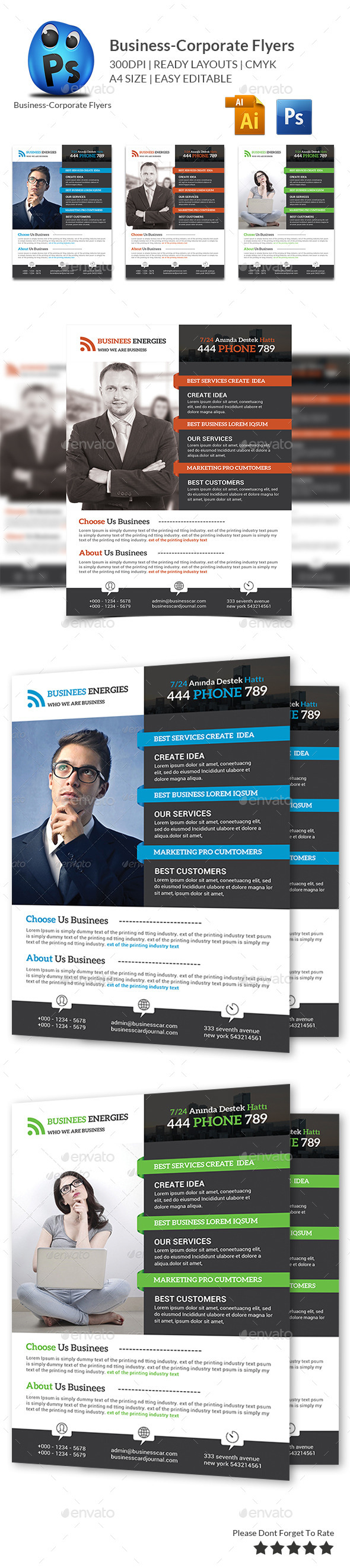 GraphicRiver Best Business Flyers Templates 10701102