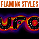 Flaming Styles for Black background - GraphicRiver Item for Sale