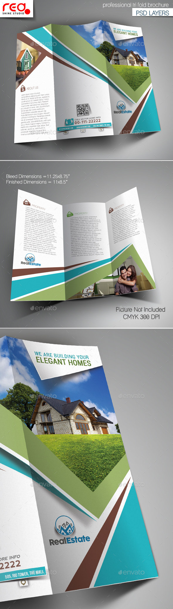 GraphicRiver Elegant Homes Trifold Brochure Template 10701121