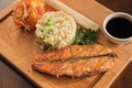Grilled salmon with rice - PhotoDune Item for Sale