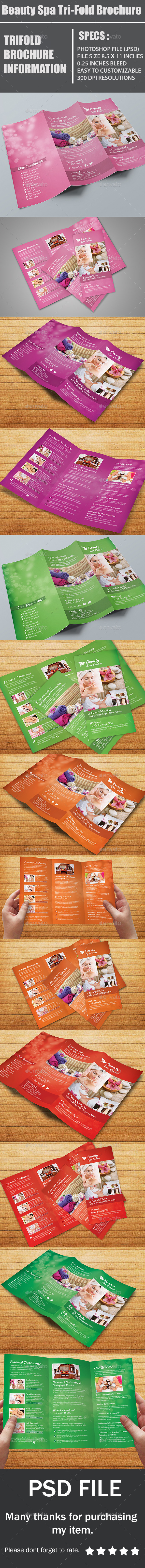 GraphicRiver Beauty Spa Tri-Fold Brochure 10701240