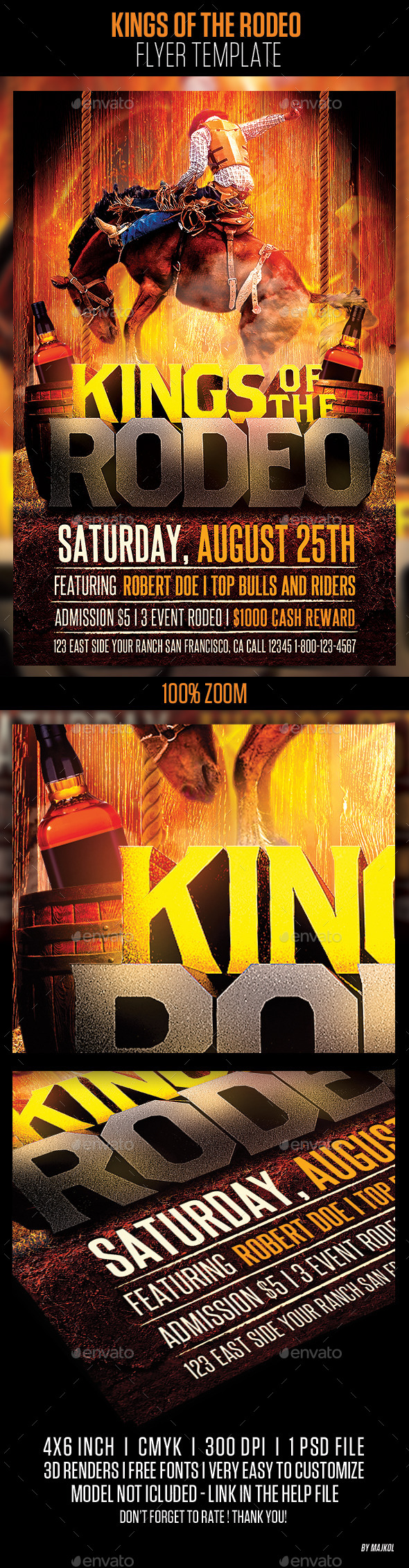 GraphicRiver Kings of the Rodeo Flyer Template 10701266