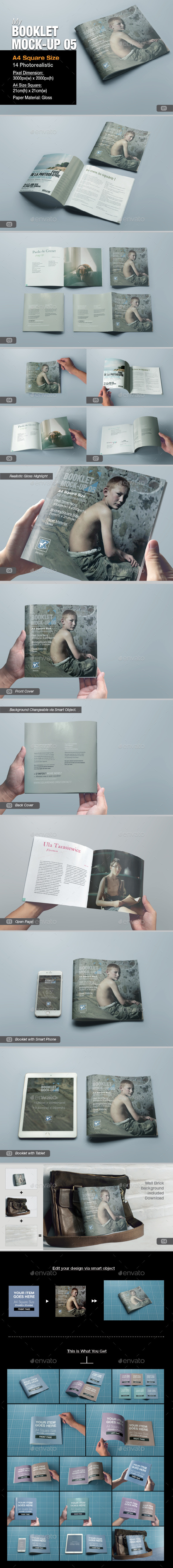 GraphicRiver myBooklet Mock-up 05 10701634