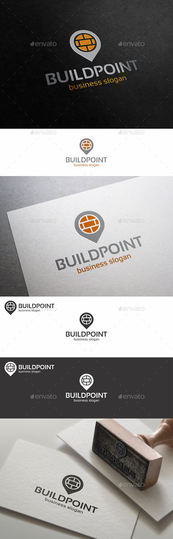 GraphicRiver Build Point Place Logo Template 10701650
