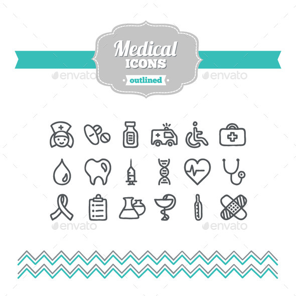 GraphicRiver Hand Drawn Medical Icons 10701670