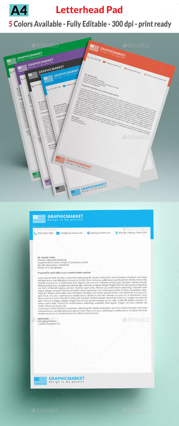 GraphicRiver Letterhead Pad 10701703