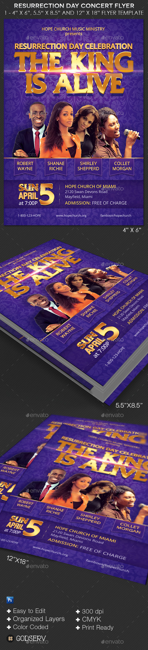 GraphicRiver Resurrection Day Concert Flyer Template 10701935