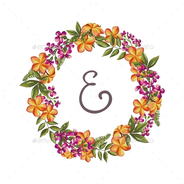 GraphicRiver Flower Wreath 10701948