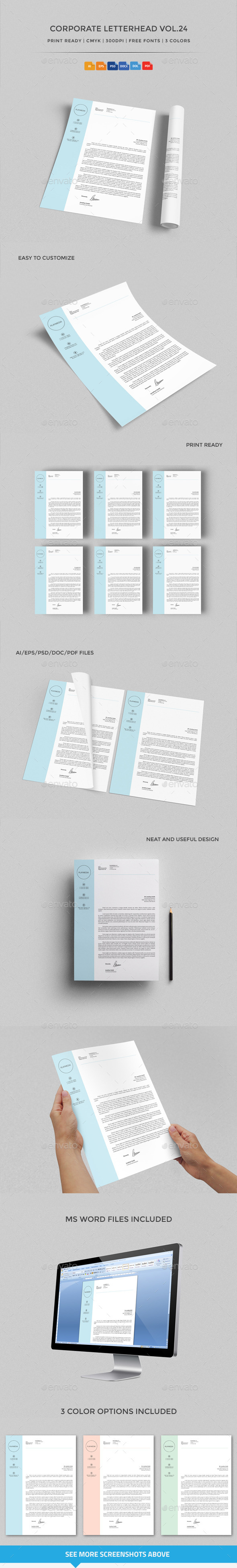 GraphicRiver Corporate Letterhead vol.24 with MS Word DOC DOCX 10702034