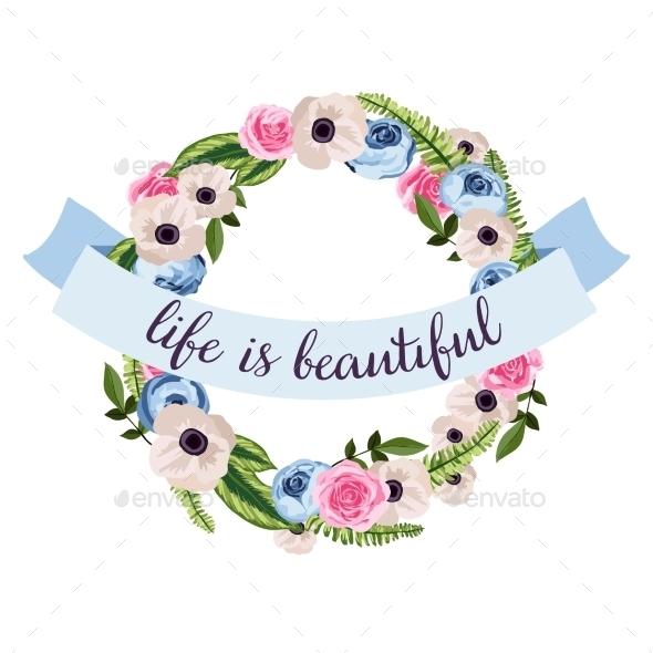 GraphicRiver Flower Wreath 10702150