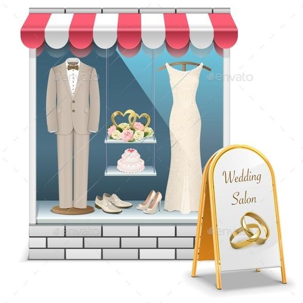 GraphicRiver Vector Wedding Boutique 10702206