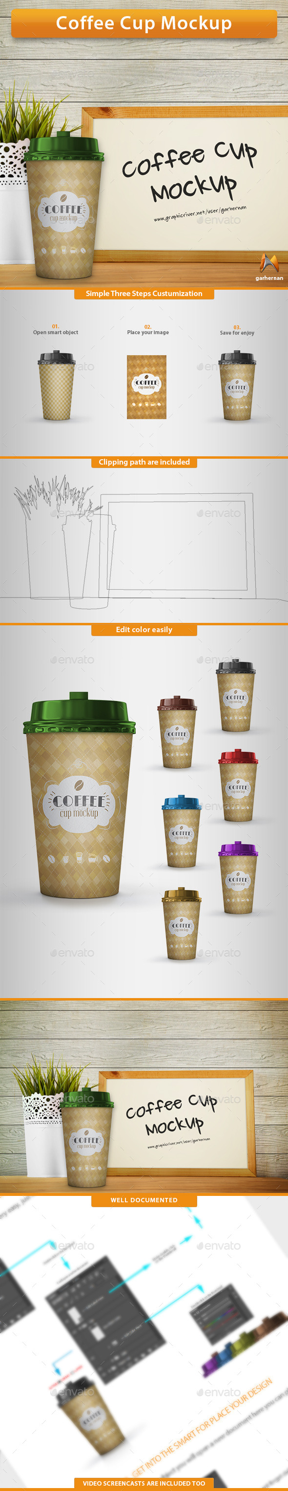 GraphicRiver Coffee Cup Mockup 10702447