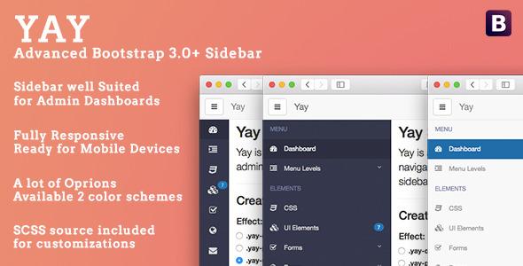 CodeCanyon Yay Advanced Sidebar for Bootstrap 10702487
