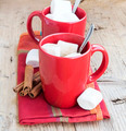 Hot Chocolate Cups with Marshmallows