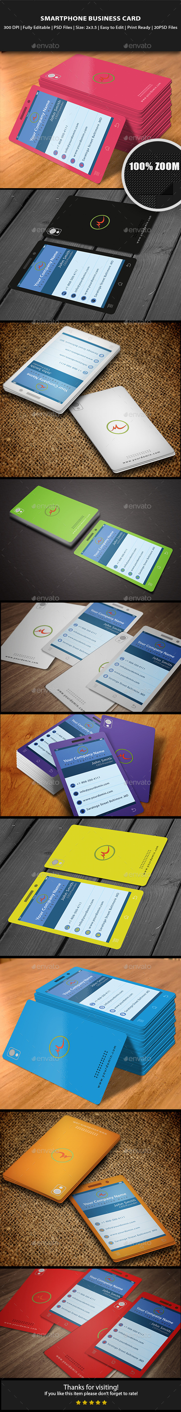 GraphicRiver Smartphone Business Card 10641564