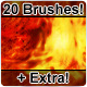 20 Hi-Res Artificial Fire Brushes - GraphicRiver Item for Sale