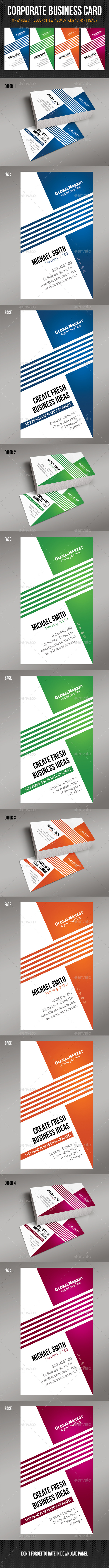 GraphicRiver Corporate Business Card 12 10703243
