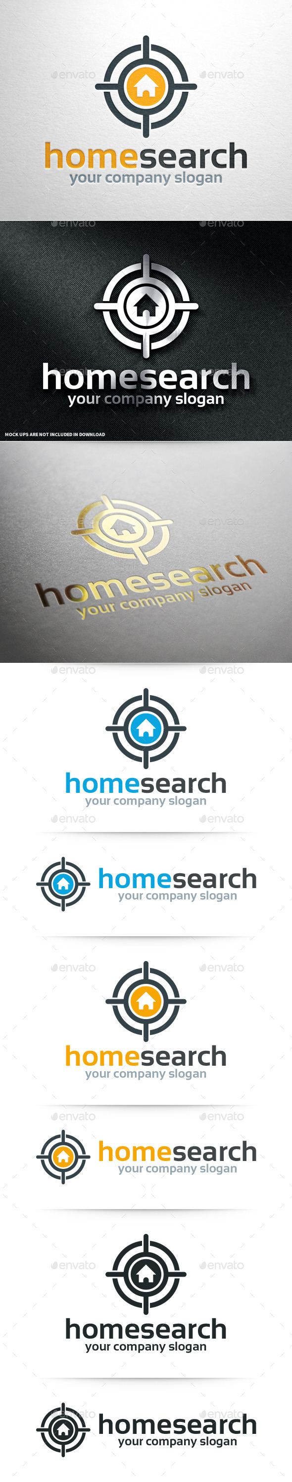 GraphicRiver Home Search Logo Template 10703331