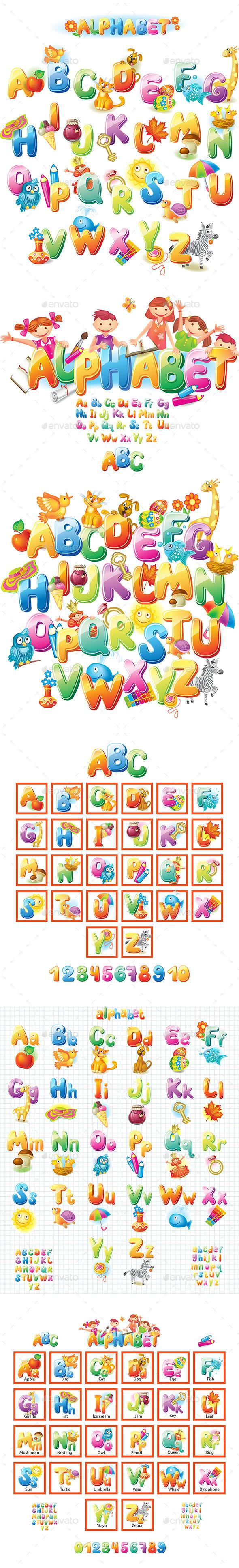 GraphicRiver Alphabet for Kids 10685874