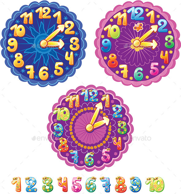 GraphicRiver Clocks for Kids 10685911
