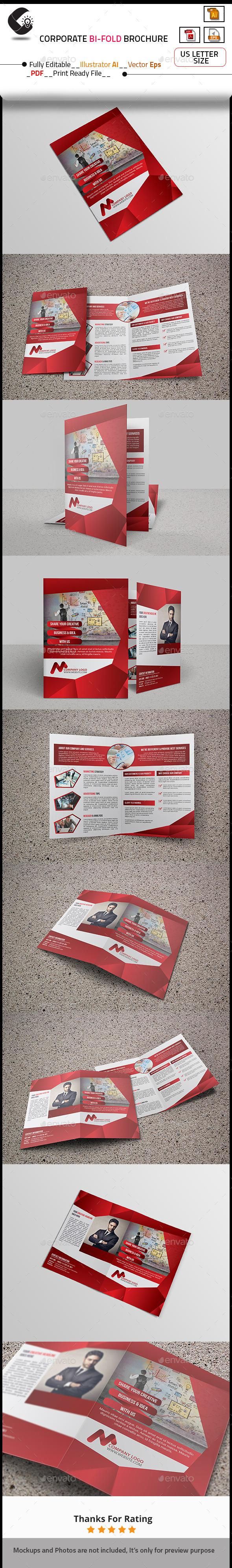 GraphicRiver Corporate Bi-Fold Brochure Template 10703843
