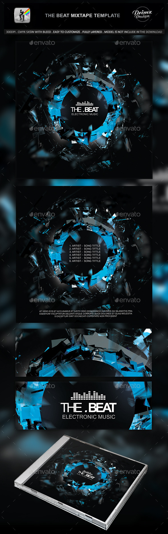 GraphicRiver The Beat Mixtape Template 10704157