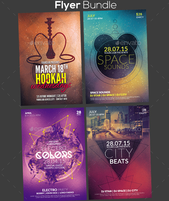 GraphicRiver Flyer Bundle 10704273