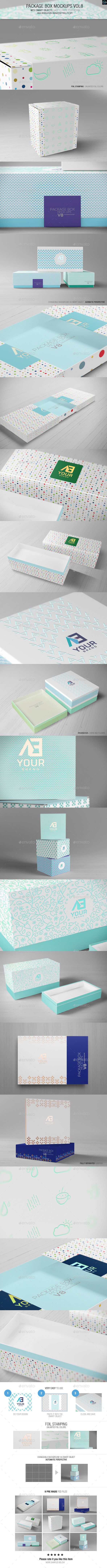 GraphicRiver Package Box Mockups Vol8 10704514