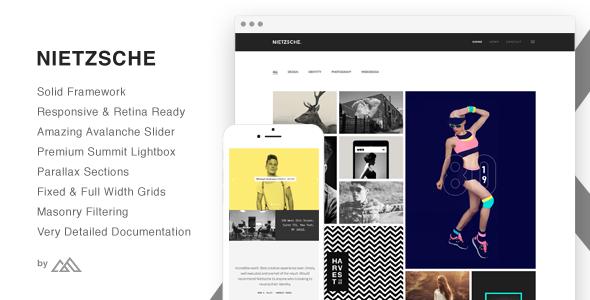 ThemeForest Nietzsche Creative Multi-Purpose HTML Template 10705442