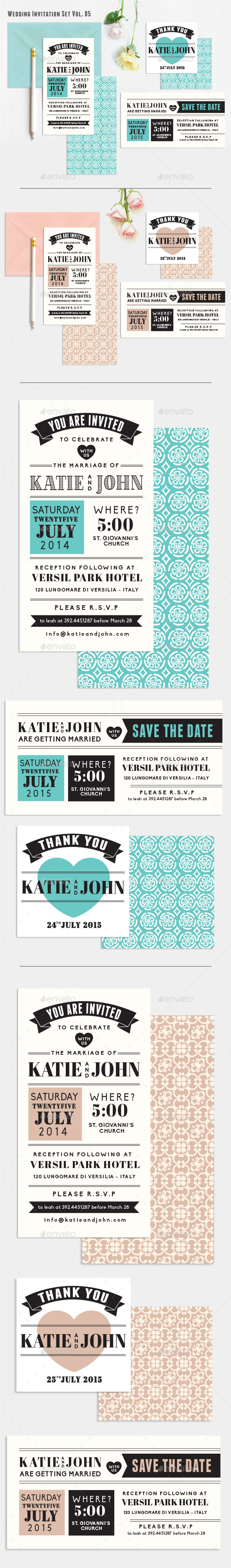 GraphicRiver Wedding Invitation Set Vol 05 10705516