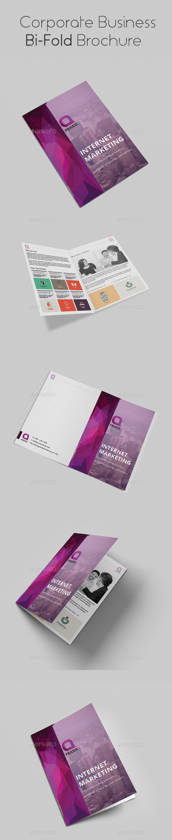 GraphicRiver Corporate Business Bi-Fold Brochure 10706431